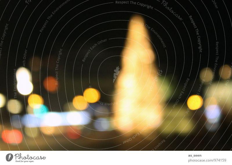 Weihnachtsmarkt Stil Tourismus Nachtleben Weihnachten & Advent Winter Schnee Braunschweig Stadt Weihnachtsbaum glänzend leuchten Freundlichkeit hell weich