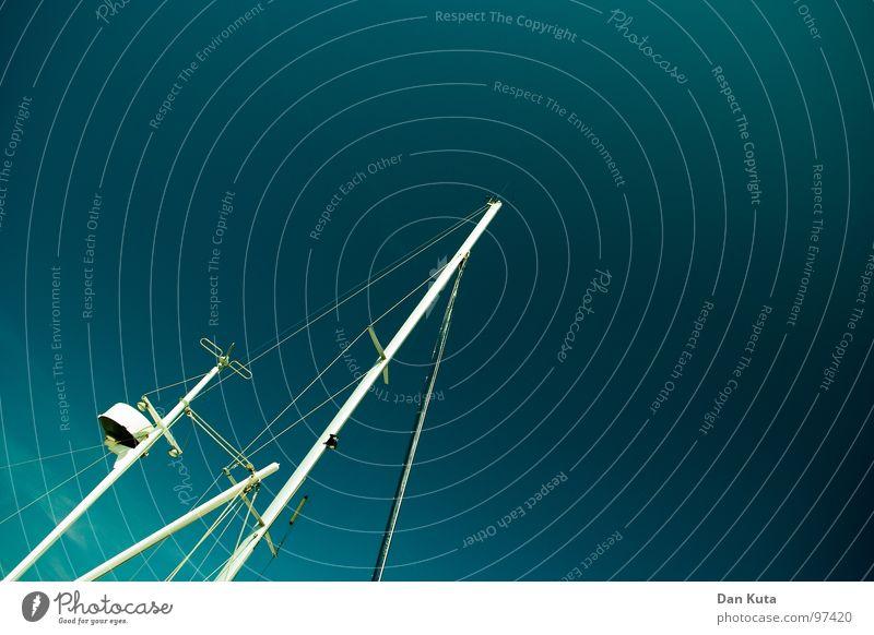 Hereinragend blau weiß Baum Sommer Ferien & Urlaub & Reisen gelb Freiheit See Lampe hell Wasserfahrzeug Wind Beleuchtung Seil Insel Elektrizität