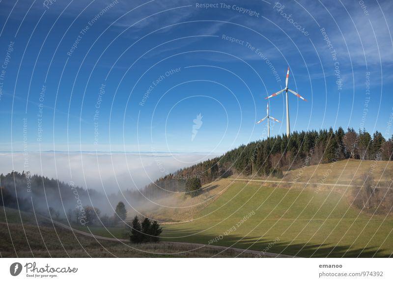 Holzschlägermatte Himmel Natur Ferien & Urlaub & Reisen blau grün Baum Landschaft Wolken Wald Berge u. Gebirge Herbst Gras Horizont Energiewirtschaft Luft