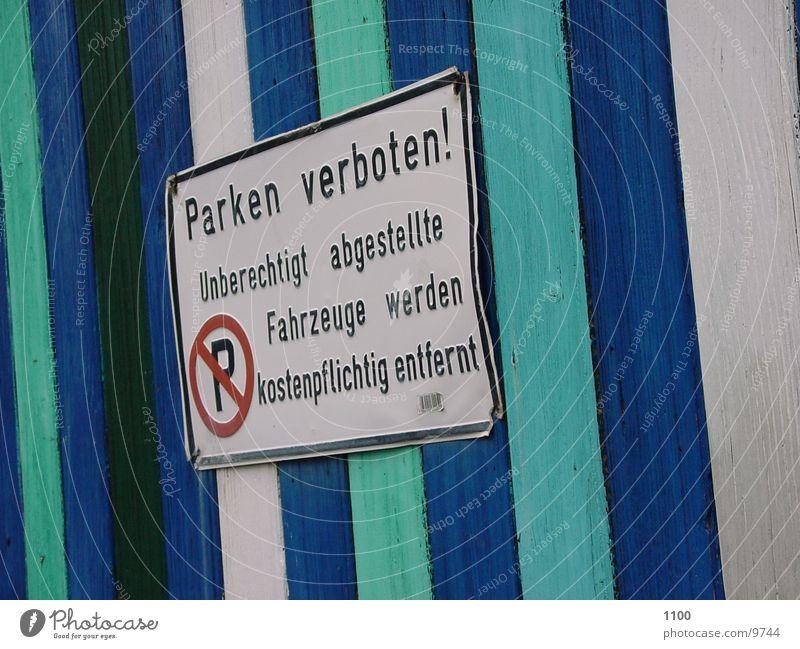 Parken Verboten Schilder & Markierungen Dinge Parkverbot