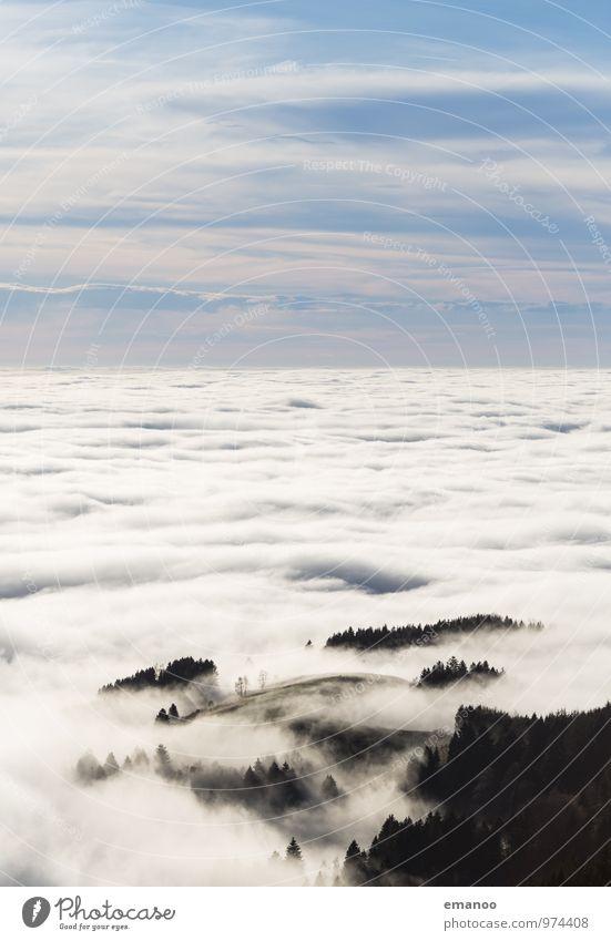 soweit das Auge reicht Himmel Natur Ferien & Urlaub & Reisen Wasser Landschaft Wolken Ferne Wald Berge u. Gebirge Herbst Freiheit Luft Wetter Nebel Wellen