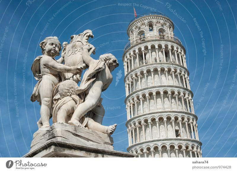 Pisa Ferien & Urlaub & Reisen Tourismus Ausflug Ferne Städtereise Sommer Sommerurlaub Sonne Dorf Kleinstadt Stadt Altstadt bevölkert Kirche Park Platz Rathaus