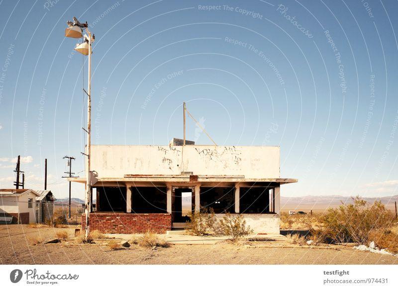 abandoned homes Menschenleer Bauwerk Gebäude Architektur Verfall Vergangenheit Vergänglichkeit alt gehen Einsamkeit Zerstörung USA Route 66 Wüste Wärme Sonne