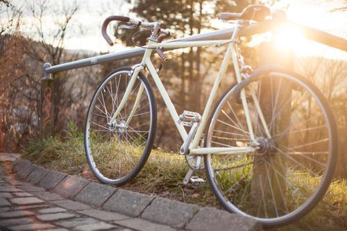 Retrorenner Natur Ferien & Urlaub & Reisen alt Freude Wege & Pfade Sport Stil Gesundheit Lifestyle Freizeit & Hobby Design Verkehr Fahrrad Geschwindigkeit