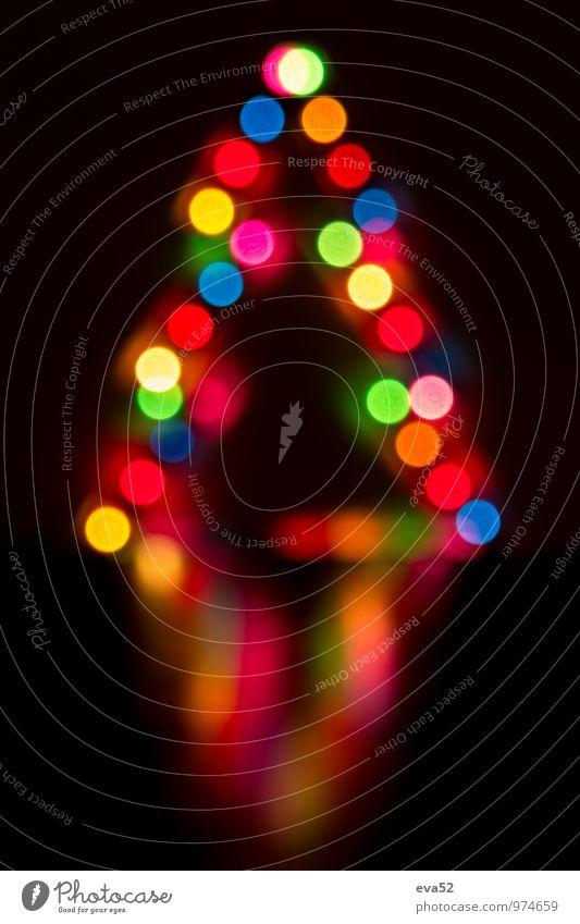 Abstrakter Hintergrund Weihnachtsbeleuchtung Dekoration & Verzierung abstrakt Hintergrundbild Schwache Tiefenschärfe Weihnachtsbaum Feier mehrfarbig