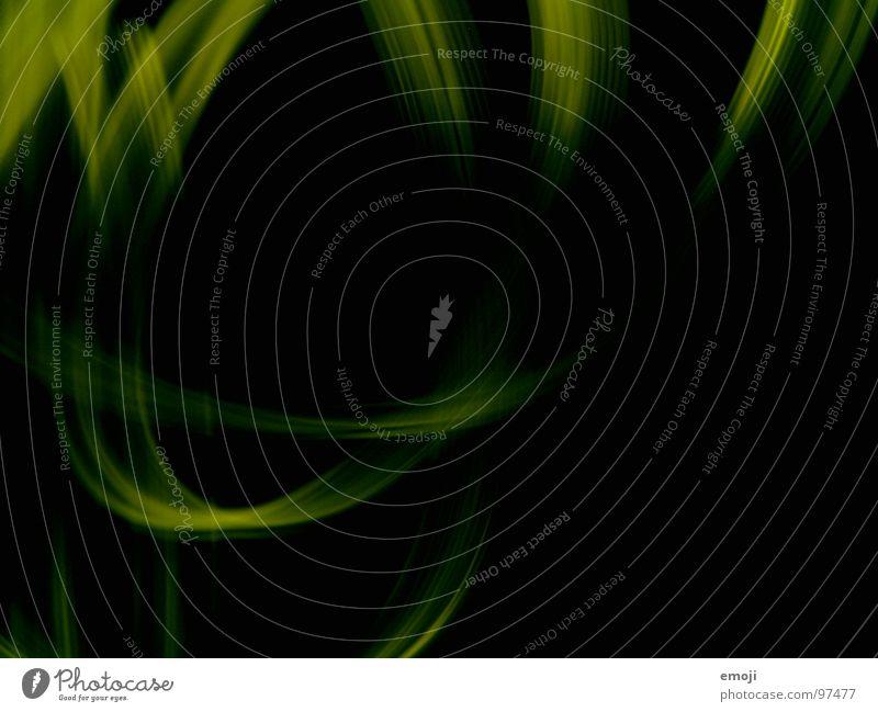 grün-gelb schwarz . langweilig dunkel rund Experiment Kunst Streifen seltsam leer obskur Langzeitbelichtung light lights yellowgreen Nähgarn Radio Bogen black