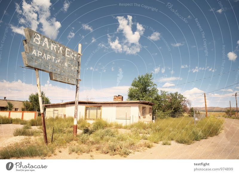 abandoned homes Dorf Menschenleer Bauwerk Gebäude Architektur Fassade hässlich Einsamkeit Verbitterung Verfall Vergänglichkeit gehen ausdruckslos USA Route 66