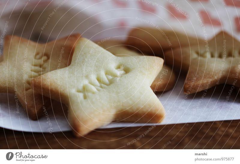 XMAS KEKS Lebensmittel Ernährung Essen Zeichen Schriftzeichen Stimmung Weihnachten & Advent Süßwaren schön Tüte Stern Vorfreude Foodfotografie Farbfoto
