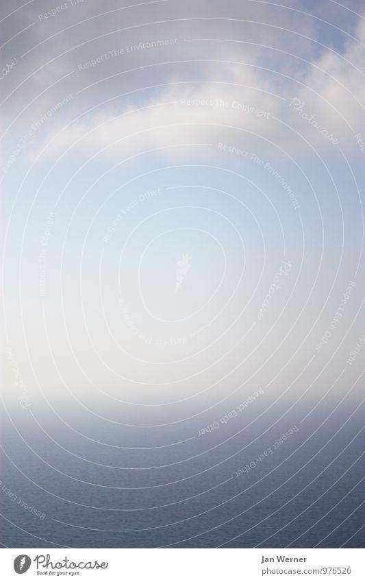 Kreislauf Himmel Natur Ferien & Urlaub & Reisen blau Wasser Meer Wolken Ferne Umwelt Freiheit fliegen Horizont Luft Zufriedenheit Wellen Tourismus