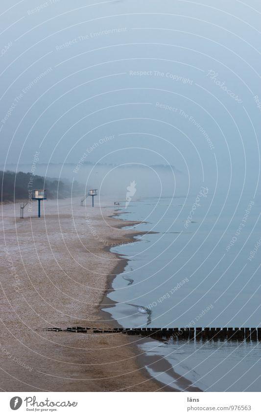 Winterzeit Ferien & Urlaub & Reisen Tourismus Ausflug Nebel Küste Ostsee Meer Insel Usedom blau Wege & Pfade maritim Strand Nebensaison Frost kalt