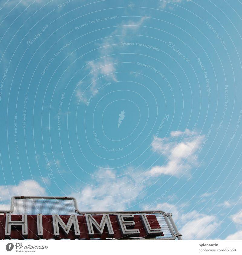himmlisch1 Himmel weiß blau Wolken Wetter Schilder & Markierungen Buchstaben Typographie