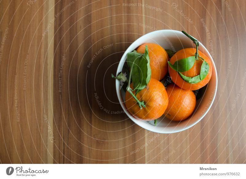 Mandarinen Lebensmittel Frucht Orange Ernährung Essen Frühstück Büffet Brunch Bioprodukte Geschirr Schalen & Schüsseln frisch Gesundheit lecker maritim
