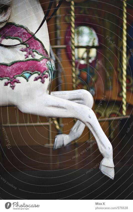 Hopp Freizeit & Hobby Spielen Feste & Feiern Oktoberfest Jahrmarkt Reitsport Tier Pferd 1 schaukeln Gefühle Stimmung Freude Fröhlichkeit Lebensfreude Kindheit