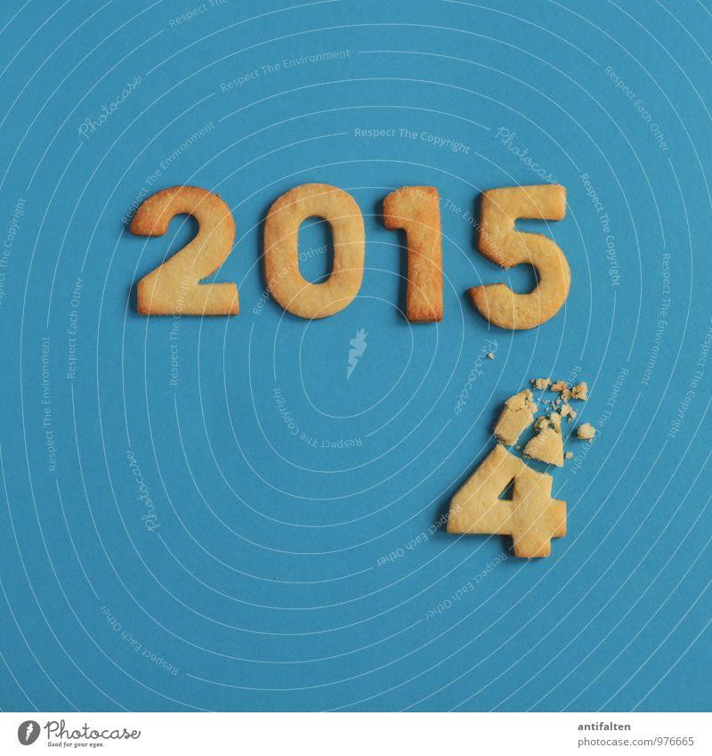 Zwischen den Jahren Weihnachten & Advent gelb Essen 1 Feste & Feiern Zeit 2 Ernährung Beginn süß kaputt Ziffern & Zahlen neu Kalender Silvester u. Neujahr Ende