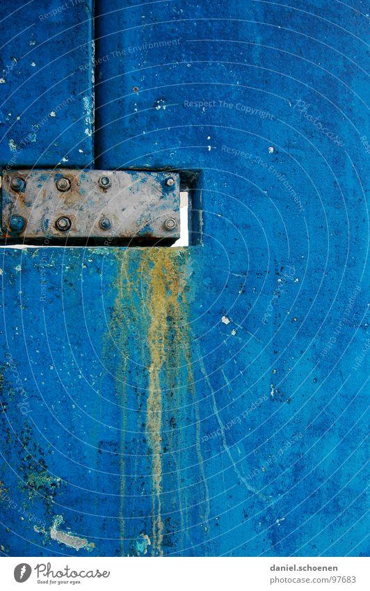 sehr blau Hintergrundbild verfallen abstrakt Wasserfahrzeug gelb Farbe Strukturen & Formen Paddel farbfläche yves klein