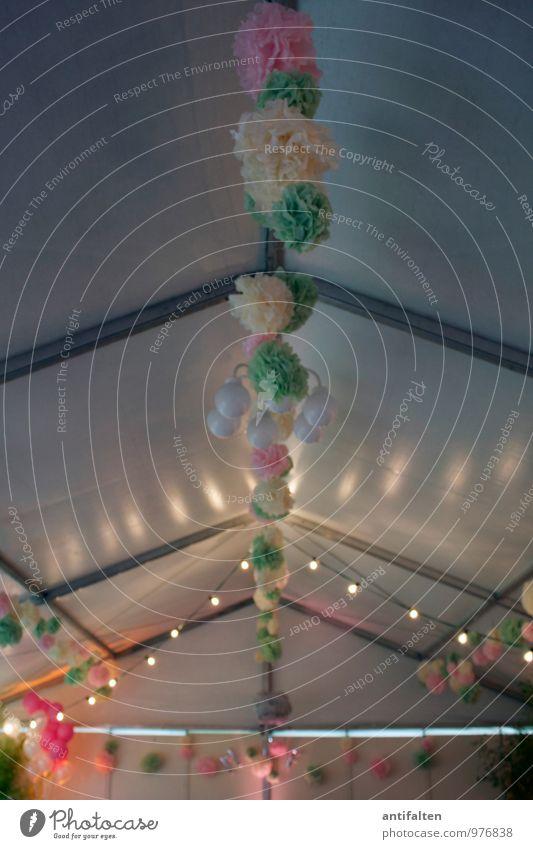 Festzeltstimmung grün Freude Liebe Essen natürlich Feste & Feiern Party rosa Dekoration & Verzierung Geburtstag Fröhlichkeit Tanzen Lebensfreude Papier