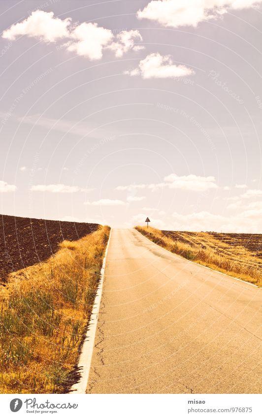 Und weiter auf der Straße ins Nirgendwo Radrennen Abenteuer Freiheit Freizeit & Hobby Ferien & Urlaub & Reisen Tourismus Sommer Andalusien Joggen Natur