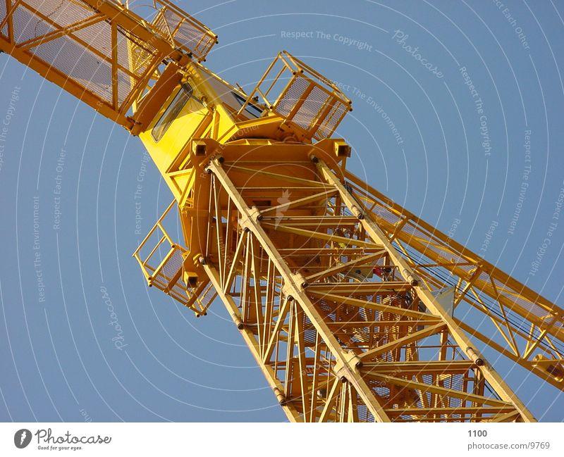 Baukran Himmel gelb Technik & Technologie Baustelle Handwerk Kran Elektrisches Gerät Arbeitsgeräte