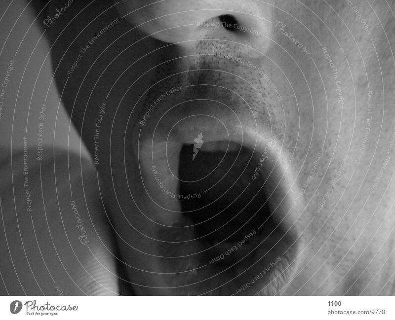 Müde :-) Mensch Mund Müdigkeit gähnen