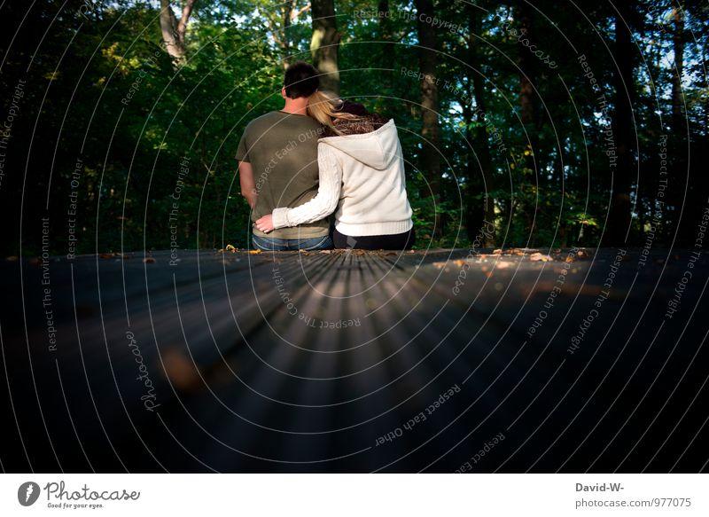 P.S Ich Liebe Dich Mensch Natur grün Wald Gefühle Liebe Glück Paar Freundschaft Zusammensein Zufriedenheit genießen Lebensfreude berühren Romantik Schutz