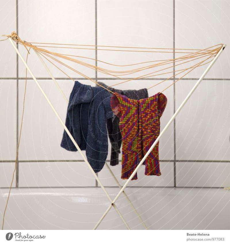 Bunte-Socken-Kampagne Stil Design Mode Strümpfe Reinigen authentisch Sauberkeit blau mehrfarbig Wollust wetterfest Nikolausmütze Wollsocke Wäsche waschen