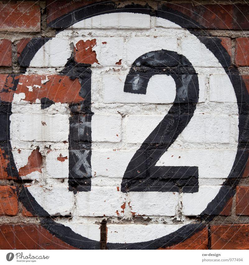 12 alt weiß schwarz kalt Wand Mauer Stein Kunst Fassade Design Schilder & Markierungen Kreis Hinweisschild Vergänglichkeit einfach Zeichen