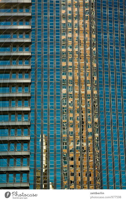 Fassade Business Frankfurt am Main Gebäude Glas Glasfassade Haus Hessen Hochhaus Stadt Skyline Stahl Büro Bürogebäude Etage Reflexion & Spiegelung Fenster