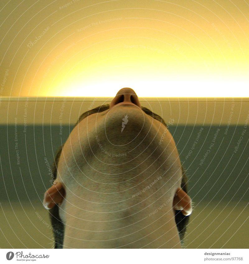 Selig. Mann gelb grau Haare & Frisuren Kopf hell Religion & Glaube Beleuchtung Kraft Nase Macht Ohr Lippen Ikonen Klarheit Vertrauen