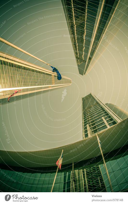 future world III Stadt Wand Architektur Gebäude Mauer außergewöhnlich Fassade Business modern Hochhaus hoch fantastisch Zukunft Turm Bauwerk Bankgebäude