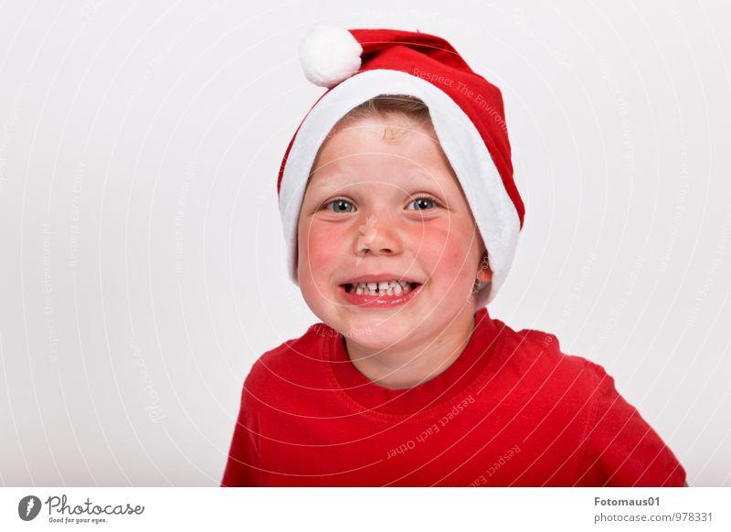 It´s Christmas Time II Freude Weihnachten & Advent Mensch Kind Junge 1 3-8 Jahre Kindheit Lächeln Fröhlichkeit frisch Glück niedlich rot weiß Gefühle Stimmung