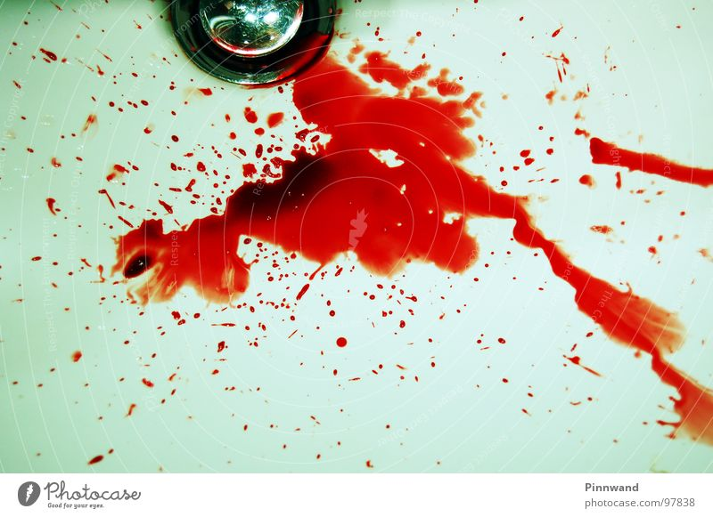 bloodshot I rot Abfluss spritzen gefährlich blutrünstig fatal Nasenbluten Furche Selbstmord weiß gruselig perfekt Blut Genetik DNA AIDS Rauschmittel Niere