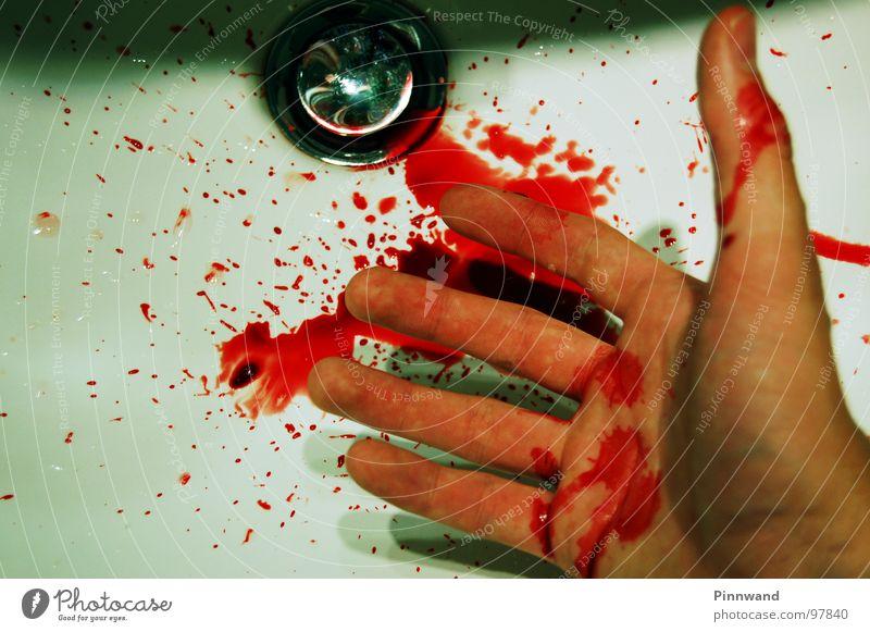 bloodshot III weiß rot Tod Gras gefährlich kaputt gruselig Krieg Rauschmittel Seite Zerstörung verloren Blut seltsam Biologische Landwirtschaft Furche