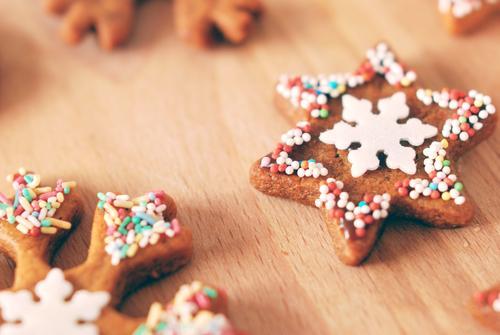 Plätzchen Weihnachten & Advent Lebensmittel Ernährung Kochen & Garen & Backen süß Stern (Symbol) lecker Süßwaren Backwaren Schokolade Zucker Teigwaren