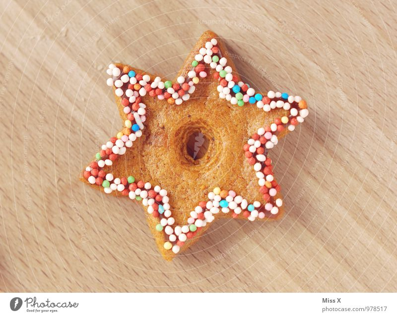 Sterni Lebensmittel Teigwaren Backwaren Süßwaren Ernährung Dekoration & Verzierung lecker süß Plätzchen Zuckerperlen Zuckerguß Zuckerstreusel Streusel