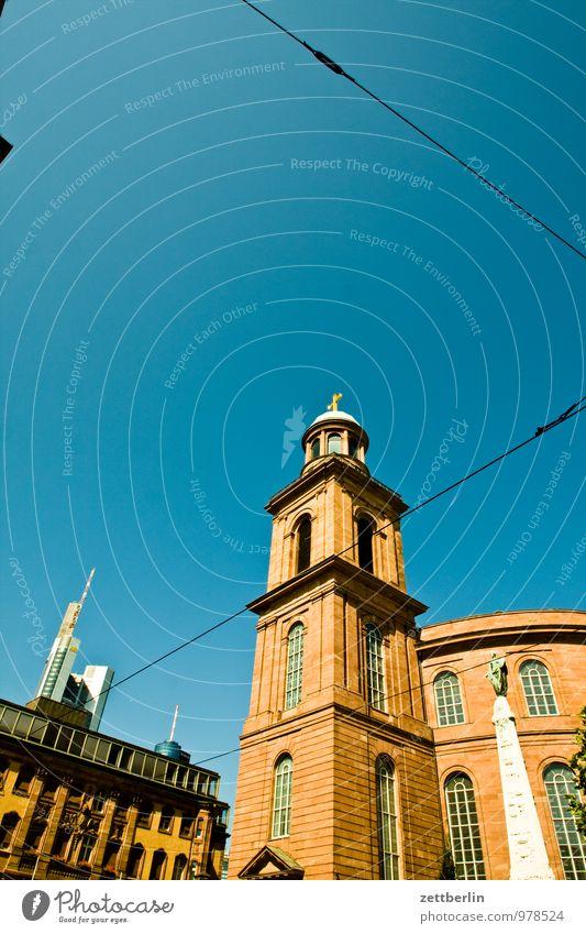 Paulskirche Bankgebäude Geldinstitut Business Fassade Frankfurt am Main Glasfassade Stadt Haus Hochhaus Perspektive Skyline steil Stadtleben Religion & Glaube