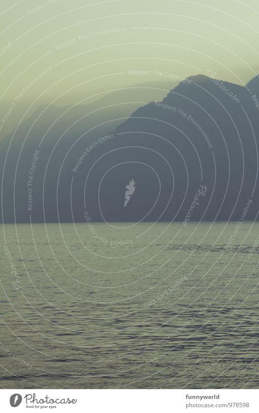 Wasser und Nebel Erholung Ferien & Urlaub & Reisen Ausflug Ferne Freiheit Natur Landschaft Himmel Sonnenaufgang Sonnenuntergang Schönes Wetter Alpen