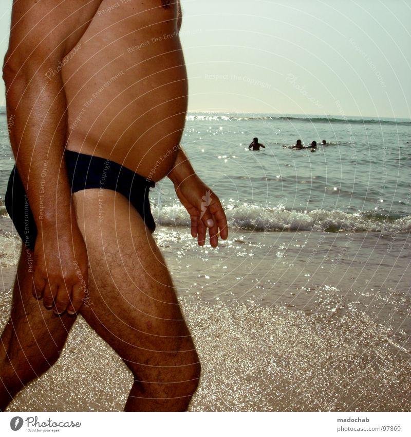 SPORTFREUNDE HUNGER Mensch Mann Wasser Ferien & Urlaub & Reisen Hand Sommer Meer Strand Erholung Bewegung Sand Schwimmen & Baden gehen Arme Haut laufen