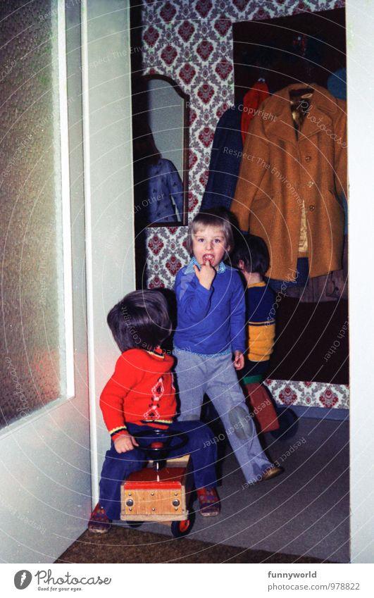 Hab'n Zahn verlor'n Kind Junge 3-8 Jahre Kindheit retro Siebziger Jahre Gebiss Zahnlücke Freundschaft Mode altehrwürdig Kindheitserinnerung früher Finger Mund