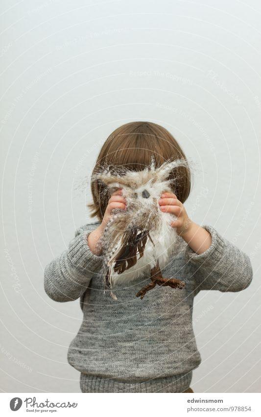 Ich bin dann mal weg ;-) Dekoration & Verzierung maskulin Kind Kindheit Haare & Frisuren 1 Mensch 3-8 Jahre Winter Pullover Accessoire blond kurzhaarig Kitsch