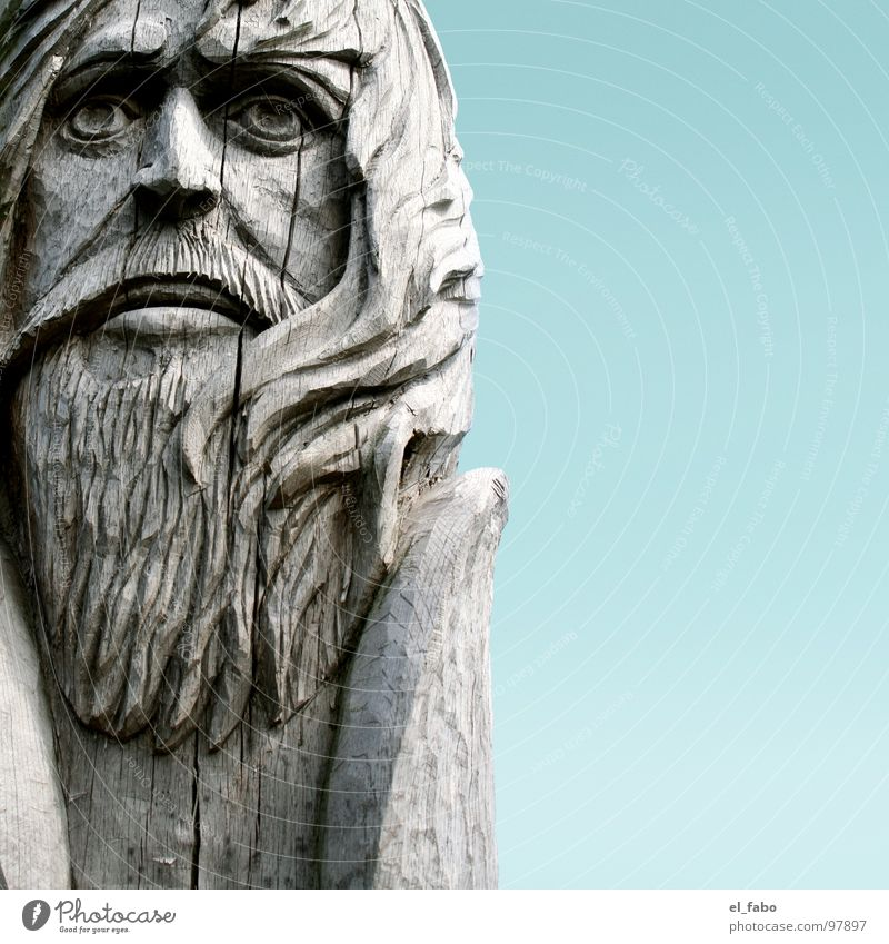häuptling rote locke Holz Baum Statue Skulptur Wikinger Rügen Bart morsch häuptling rollo rote locke met haitabu slaven nordmann sommer sonne herzinfakt Riss
