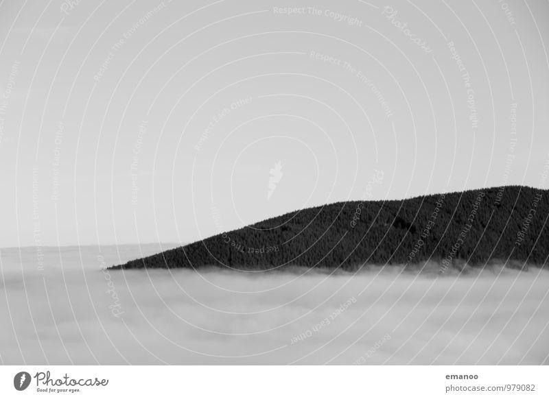 das Schiff im Nebelmeer Himmel Natur Ferien & Urlaub & Reisen Baum Landschaft Wolken Wald Umwelt Berge u. Gebirge Herbst grau Horizont Luft Wetter Wind