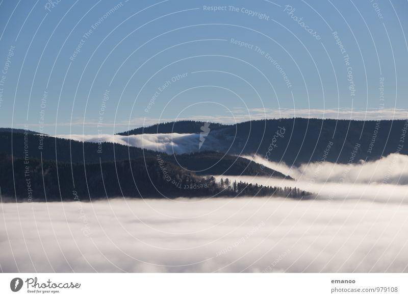 im Land der fließenden Wolken Himmel Natur Ferien & Urlaub & Reisen blau Wasser Baum Landschaft Ferne Wald Berge u. Gebirge Herbst Freiheit Luft Wetter Nebel
