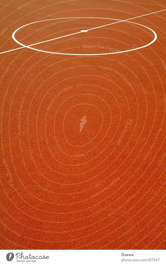 Durchschnitt Hochformat rot Sport Spielen Linie orange Hintergrundbild Fußball Platz Bodenbelag Kreis weich Mitte Spielfeld Basketball Gummi Mittelpunkt