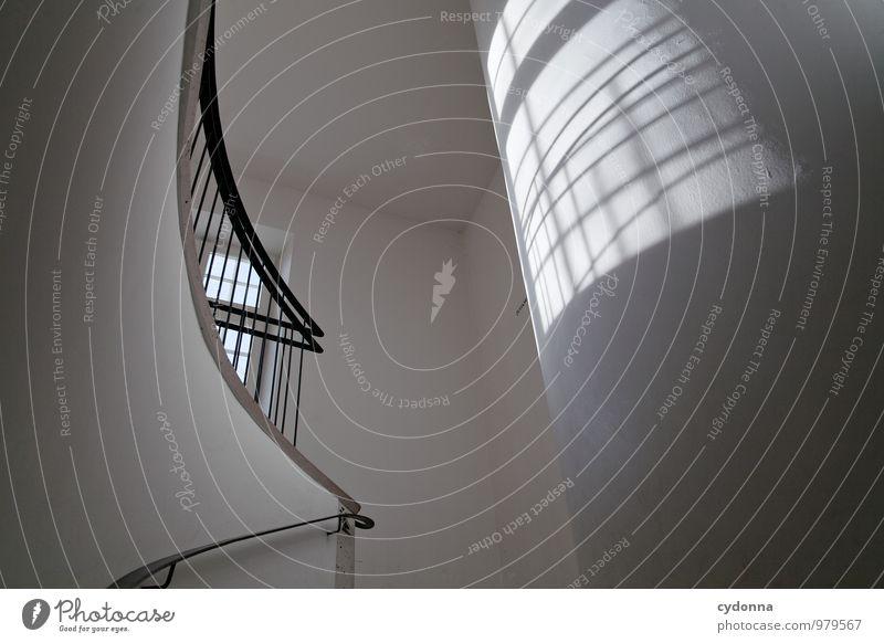 Licht in Form Einsamkeit Fenster Wand Leben Architektur Innenarchitektur Wege & Pfade Mauer Linie Lifestyle träumen Raum Treppe elegant Kraft Design