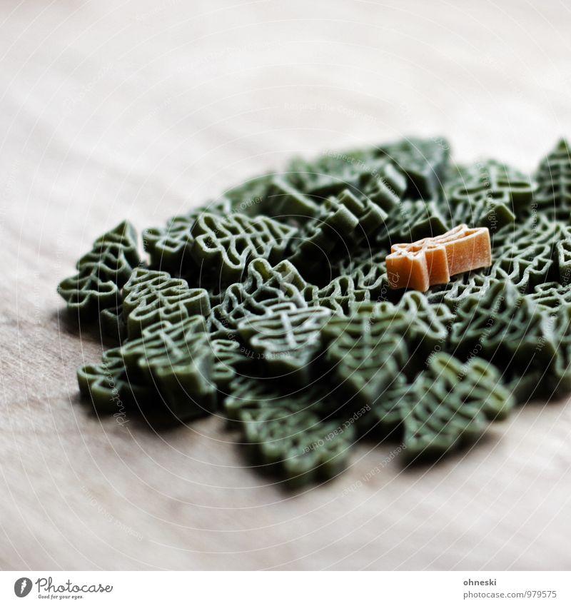 Sternhaufen Nudeln Weihnachten & Advent Weihnachtsstern Weihnachtsbaum Tanne Zeichen Stern (Symbol) grün Zutaten Haufen Farbfoto Gedeckte Farben Innenaufnahme