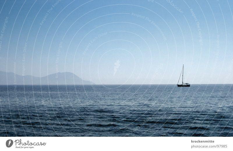 ab nach Elba Italien Ferien & Urlaub & Reisen Meer Wellen Exil Wasserfahrzeug Segelschiff Bootsfahrt nähern Einsamkeit Insel