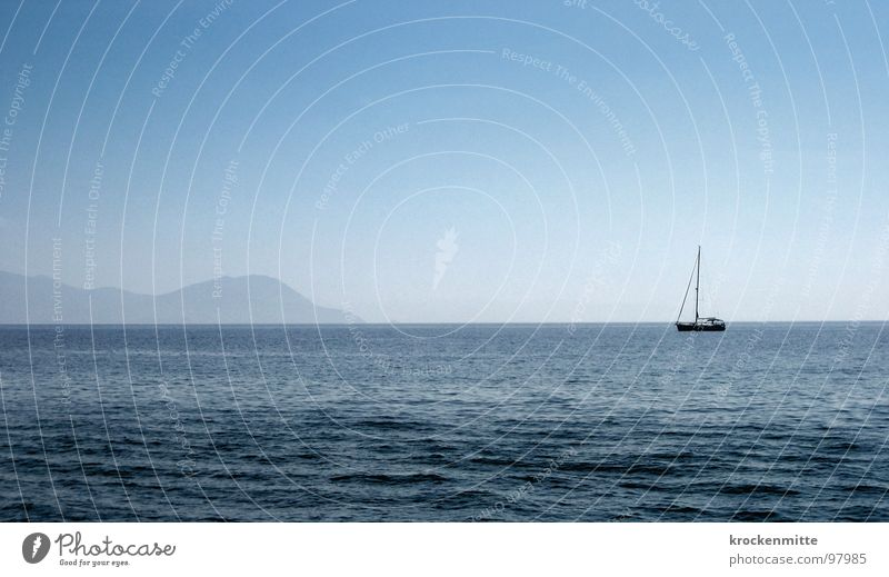 ab nach Elba Wasser Meer Ferien & Urlaub & Reisen Einsamkeit Wasserfahrzeug Wellen Insel Italien Segelschiff Bootsfahrt nähern Exil