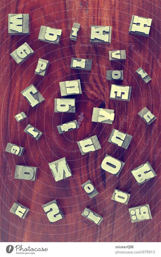 wbrAH! Kunst ästhetisch Buchstaben viele durcheinander unordentlich Design Designer Designermöbel Designwerkstatt Designmuseum Idee Typographie gestalten