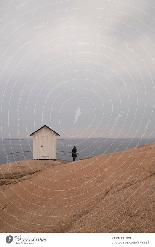 westkueste, schweden 1 Mensch Wasser Sommer Erholung Meer Einsamkeit Landschaft ruhig Traurigkeit Herbst Küste Frühling Denken Stein Felsen Luft
