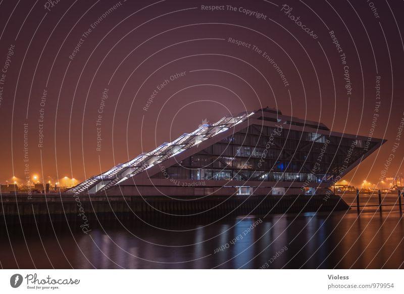 future world Hafenstadt Hochhaus Bauwerk Gebäude Architektur Mauer Wand Treppe Fassade Sehenswürdigkeit Wahrzeichen ästhetisch außergewöhnlich Coolness Dockland